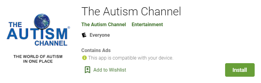 The Autism Channel in the Google Play Store